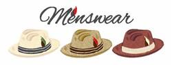 Menswear embroidery design