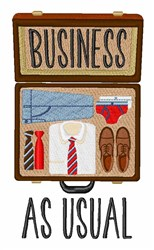 Business As Usual embroidery design
