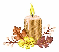 Fall Leaves Candle embroidery design