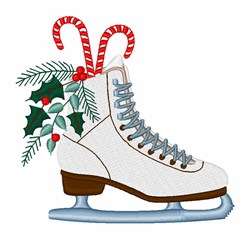 Holiday Ice Skate embroidery design