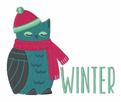 Winter Owl embroidery design