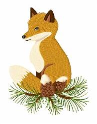 Pine Cone Fox   embroidery design