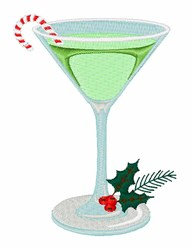 Peppermint Cocktail embroidery design