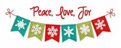 Peace Love Joy embroidery design