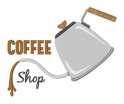 Coffee Shop embroidery design
