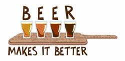 Beer Makes Better embroidery design