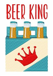 Beer  King embroidery design