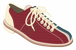 Bowling Shoe embroidery design