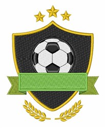 Soccer Ball Shield embroidery design