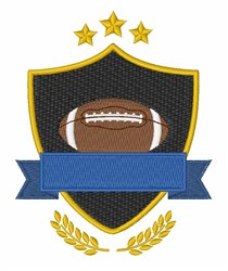 Football Shield embroidery design