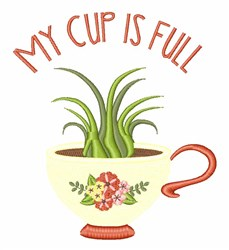 Cup Is Full embroidery design