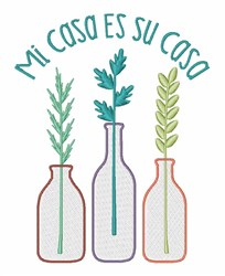 Mi Casa Su Casa embroidery design