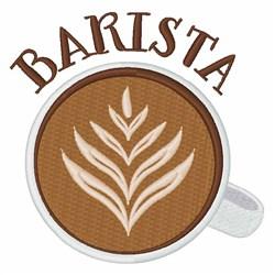 Coffee Barista embroidery design