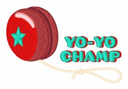 Yo-Yo Champ embroidery design