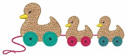 Wooden Ducks embroidery design