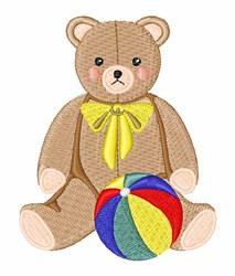 Teddy Bear & Ball embroidery design