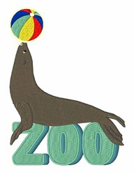 Zoo Seal embroidery design