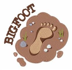 Bigfoot Footprint embroidery design