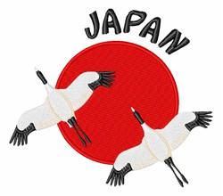 Japan Cranes embroidery design