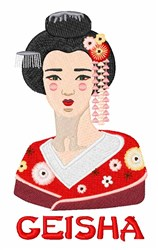 Geisha embroidery design