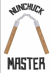 Nunchuck Master embroidery design