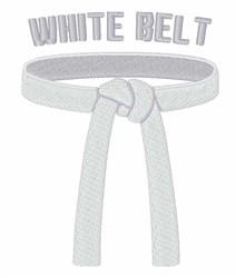 White Belt embroidery design