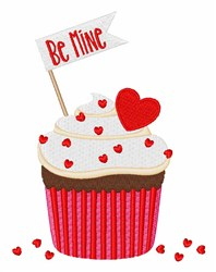 Be Mine Cupcake embroidery design
