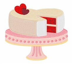 Valentine Cake embroidery design