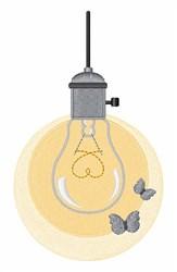 Light Bulb Moths embroidery design