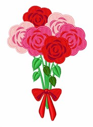 Roses Bouquet embroidery design