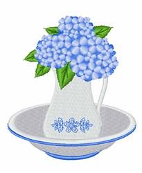 Hydrangea Basin embroidery design