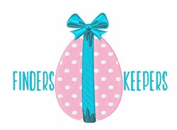 Finders Keepers Egg embroidery design