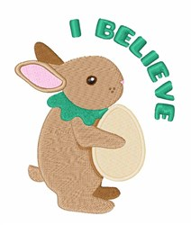 I Believe embroidery design