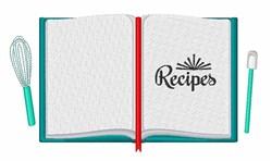 Recipes Book embroidery design