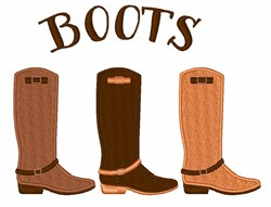 Equestrian Boots embroidery design