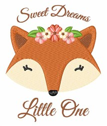 Sweet Dreams Fox embroidery design