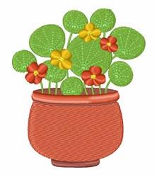 Nasturtium Flowers embroidery design
