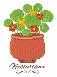 Nasturtium embroidery design