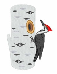 Red Headed Woodpecker embroidery design