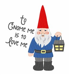 To Gnome Me embroidery design
