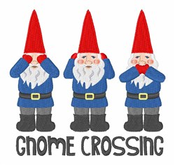 Gnomes Crossing embroidery design