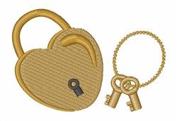 Heart Lock embroidery design