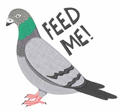Feed Me embroidery design