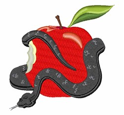 Snake & Apple embroidery design