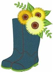 Garden Boots embroidery design
