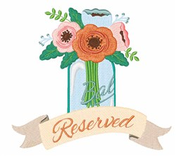 Reserved Flowers embroidery design