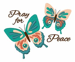 Pray For Peace embroidery design