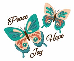 Peace Hope Joy embroidery design