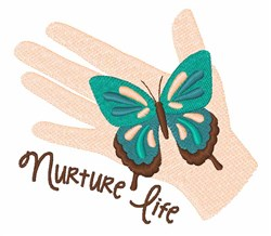 Nuture Life embroidery design