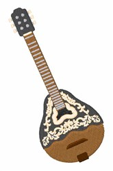 Bouzouki embroidery design